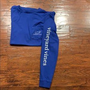 Vineyard Vines Royal Blue long sleeve T-shirt